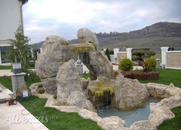 Im genes de cascadas y rocas artificiales - Piedras artificiales para jardin ...